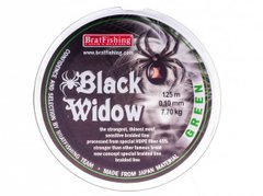 Шнур BratFishing BLACK WIDOW GREEN (зелёный) 125м, 0.12мм