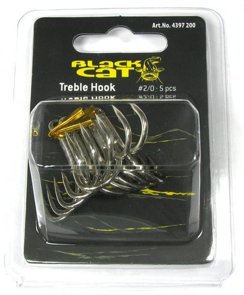 Тройник Black Cat Treble Hook №1, 5шт