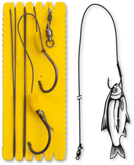 #7/0 Bouy and Boat Ghost Single Hook Rig XL 100kg 1 шт 1,40m