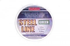 Шнур BratFishing STEEL LINE GREEN (зелёный) 125м, 0.15мм