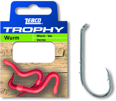 #8 Trophy Worm hook-to-nylon 0,25mm 0,70