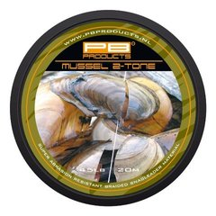 Шок-лидер PB PRODUCTS MUSSEL 2 TONE 45 Lb, 20 m