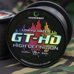 Леска GT-HD 12lb (5.4kg) LOW-VIZ GREEN 0.33mm