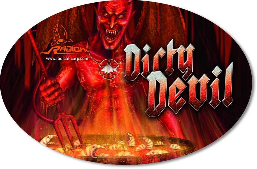 Наклейка Sticker Dirty Devil 14,5cm 9,5cm