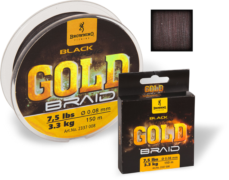 0,12mm Black Magic® Gold Braid 150m 4,5kg черный