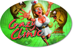 Наклейка Sticker Crazy Clinic 14,5cm 9,5cm