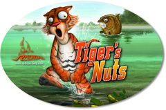 Наклейка Sticker Tiger's Nuts 14,5cm 9,5cm