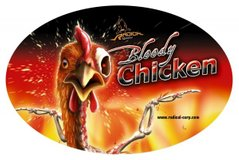 "Наклейка ""Bloody Chicken"" 9,5*14,5cм"